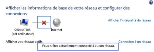 Comment dépanner le Centre Réseau et partage qui indique que «Vous n'êtes actuellement connecté à aucun réseau»?